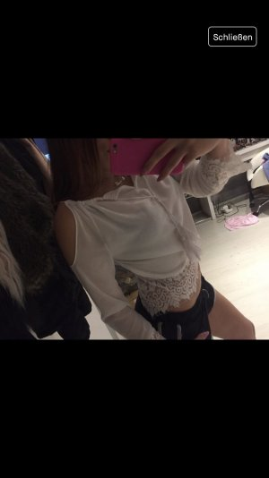 Kanten blouse wit