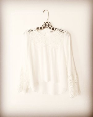 spitzen bluse • abercrombie & fitch • oatmeal • creme • weiss • bohostyle • hippielook