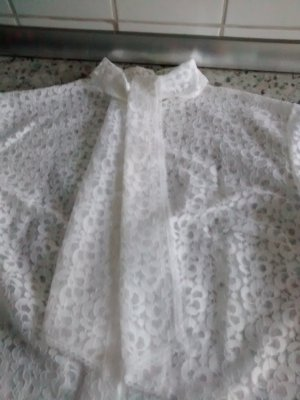 Lace Blouse white viscose