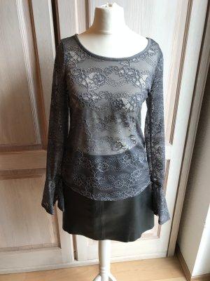 Spitzen Bluse grau H&M S spanischer Style