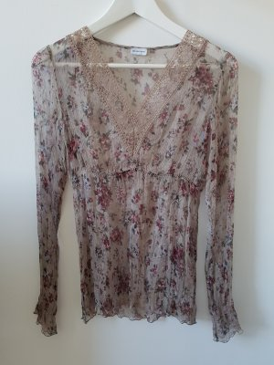 Spitzen Bluse mit Blumenmuster in Rosé Gr. 36 S