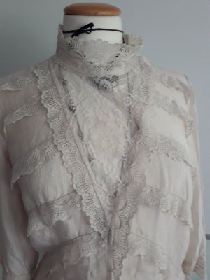 Spitzen Bluse, Reine Seide, Warehouse