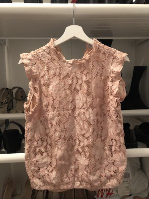 H&M Stand-Up Collar Blouse dusky pink