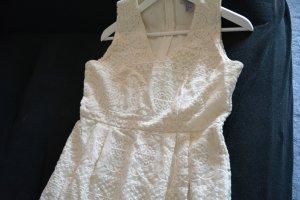 Spitzen Brautkleid Standesamt Abendkleid Ballkleid in creme gr. 38-40