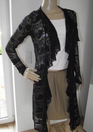 Spitzen Cardigan, schwarz, Gr.36, ital. Mode (55-AE)