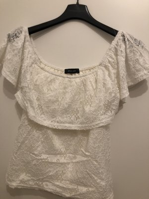 New Look Camisa tipo Carmen blanco puro