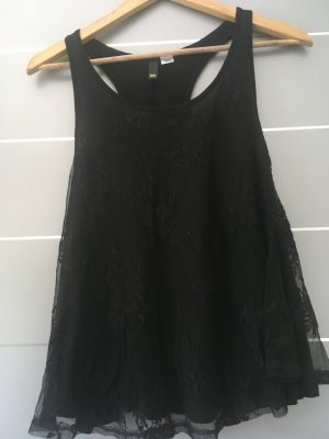 H&M Divided Lace Top black polyamide