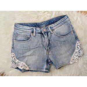 Spitzen Jeans Shorts