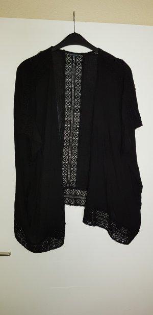 spitzen kimono in schwarz