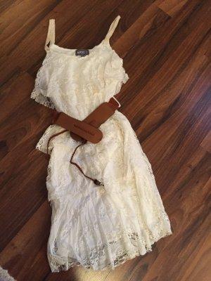 Apricot Kanten jurk wit