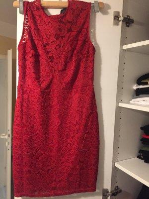 Amisu Vestido de noche rojo oscuro