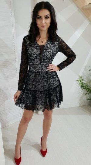 Lace Dress white-black
