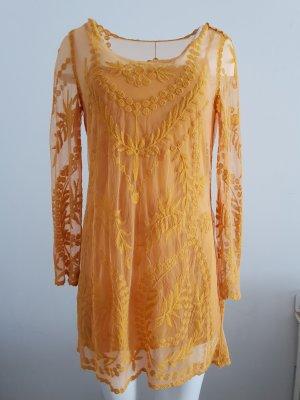 Spitzen Kleid H&M 38 gelb - wie neu