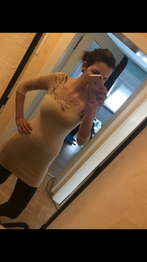 Spitzen Kleid h&m beige