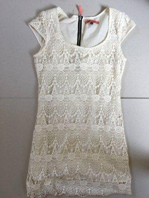 Spitzen Kleid mit Kontrastreißverschluss