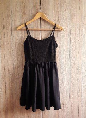 Spitzen Kleid schwarz Gr. 36