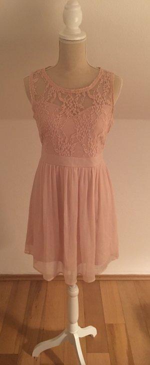 Spitzen Kleid Vero Moda in Rose