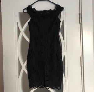H&M Premium Vestido de encaje negro