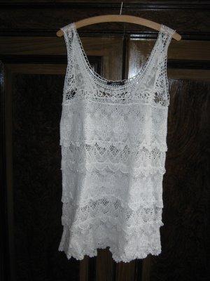 Spitzen Longtop, Minikleid von Gina Tricot Gr. M