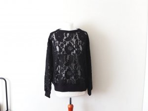 Spitzen Mango Suit Pullover Gr. L 40 schwarz sweat jumper