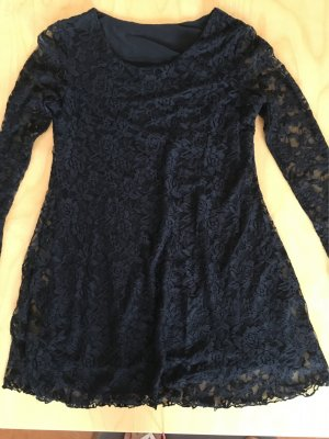 Spitzen Mini Kleid schwarz Gr 36
