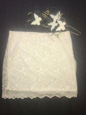 Zara Trafaluc Lace Skirt cream-oatmeal