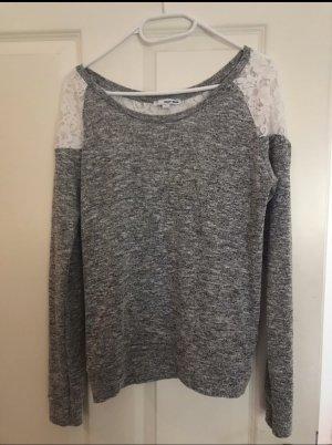 Tally Weijl Mesh Shirt white-grey