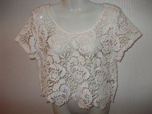 H&M Divided Crochet Shirt natural white cotton
