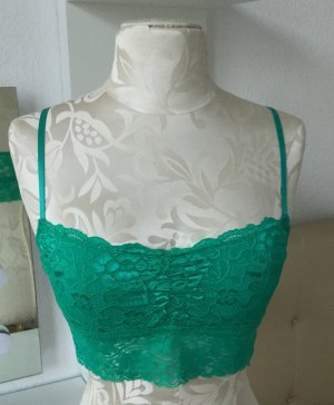 Spitzen Oberteil, in grün, S