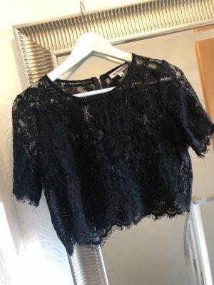 NA-KD Top en maille crochet noir
