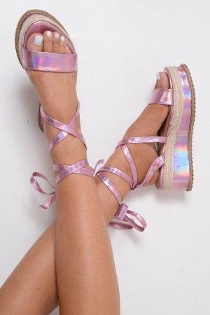 High-Heeled Sandals pink