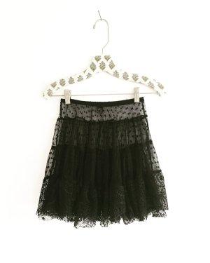 Vintage Jupe en dentelle noir