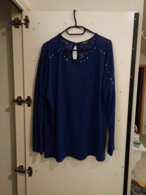 spitzen shirt blau in XL
