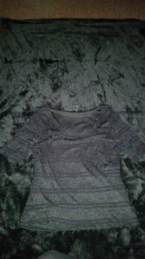 Spitzen Shirt in schwarz