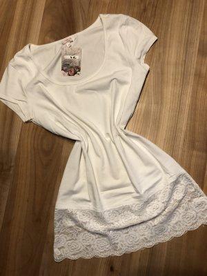 Spitzen-Shirt - M - 36 - weiß