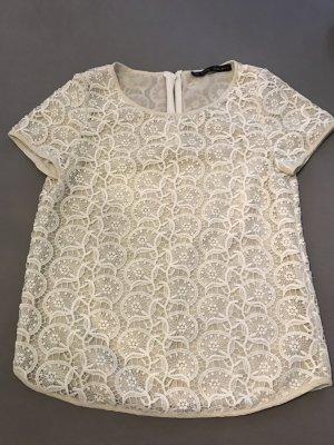 Spitzen-Shirt mit Reißverschluss am Rücken
