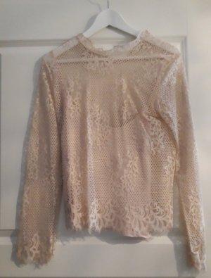 H&M Top di merletto rosa pallido