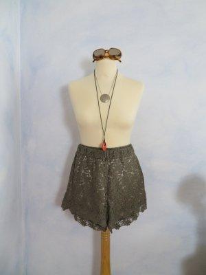 Spitzen Shorts von odd molly super sexy Gr. 2 S M gefüttert Khaki Olive Military NEU!