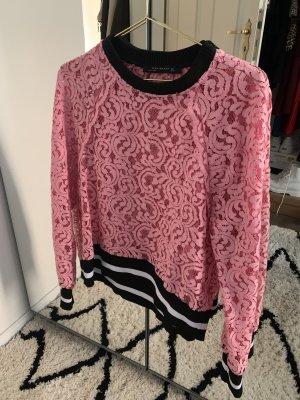 Spitzen-Sweatshirt