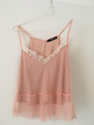 Mango Lace Top light pink