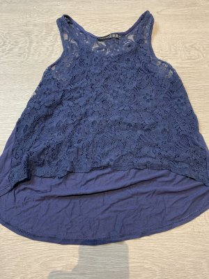 Atmosphere Lace Top dark blue
