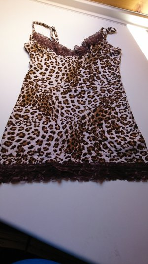 Lace Top brown-beige