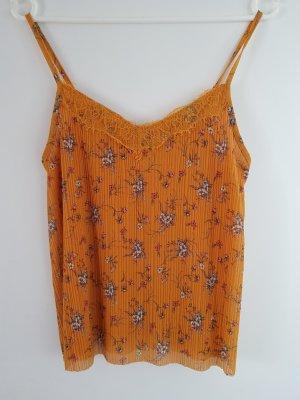 Amisu Top di merletto arancione chiaro-arancione