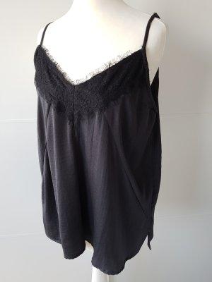 Lace Top black-dark grey