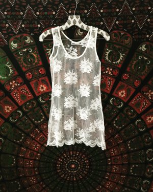 Vintage Lace Top natural white-white
