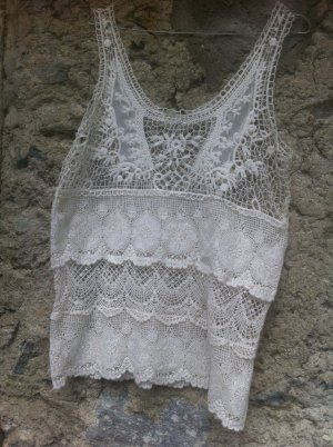 Lace Top natural white viscose