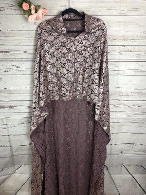 Robe de soirée gris lilas-mauve