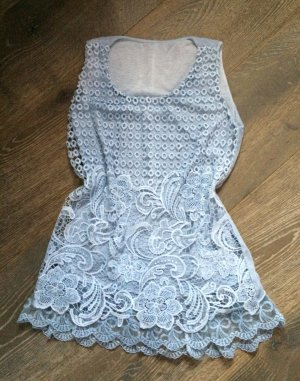 Crochet Top azure-light blue