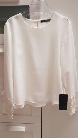 Spitzenärmel Bluse von Zara TRF Gr. S