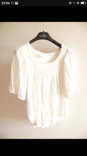 Kanten blouse veelkleurig